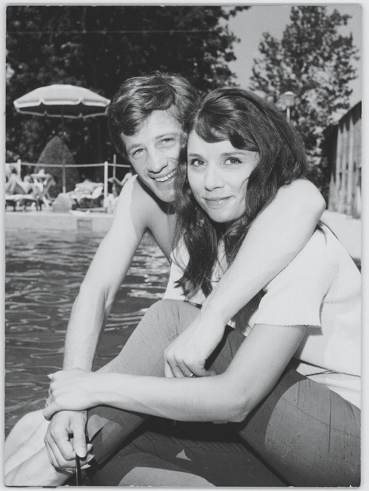 V Saint Tropez v roce 1961.