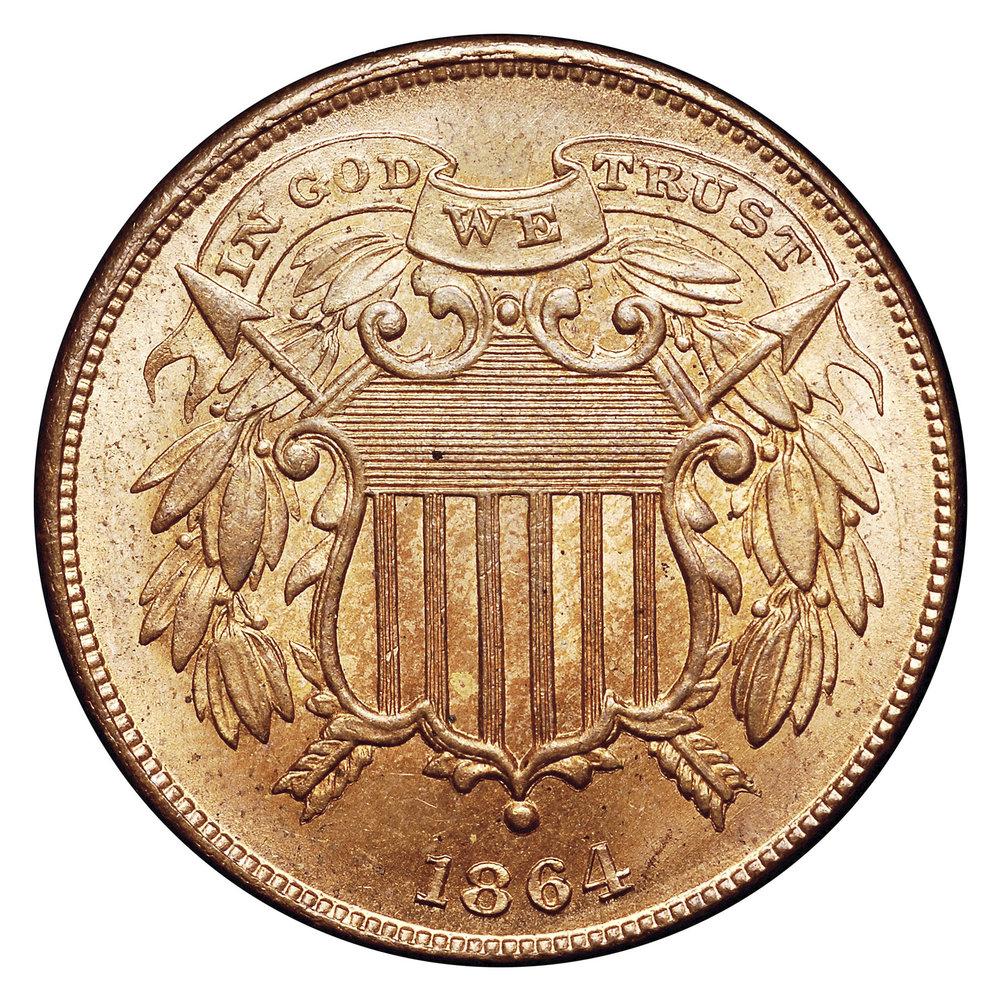 """První mince, na níž se objevil nápis """"IN GOD WE TRUST"""""""