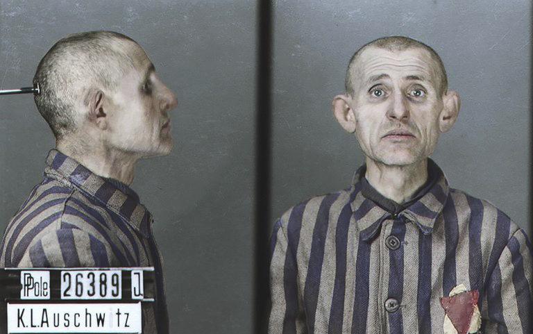 Oběti koncentračního tábora Osvětim.
