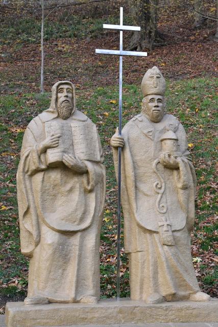 Sousoší Cyrila a Metoděje v Křtinách