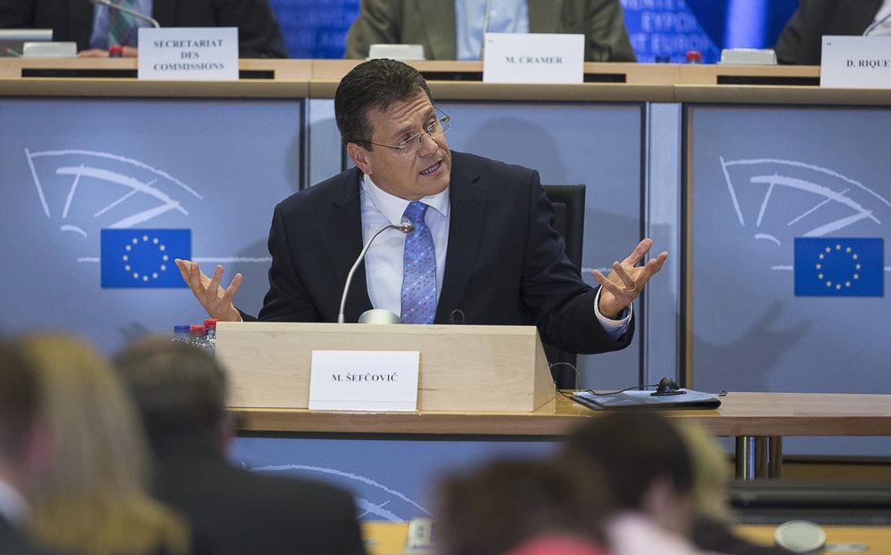 Slovenský eurokomisař Maroš Šefčovič chce být novým šéfem Evropské komise po Jeanu-Claudeu Junckerovi. Navrhují ho někteří socialisté