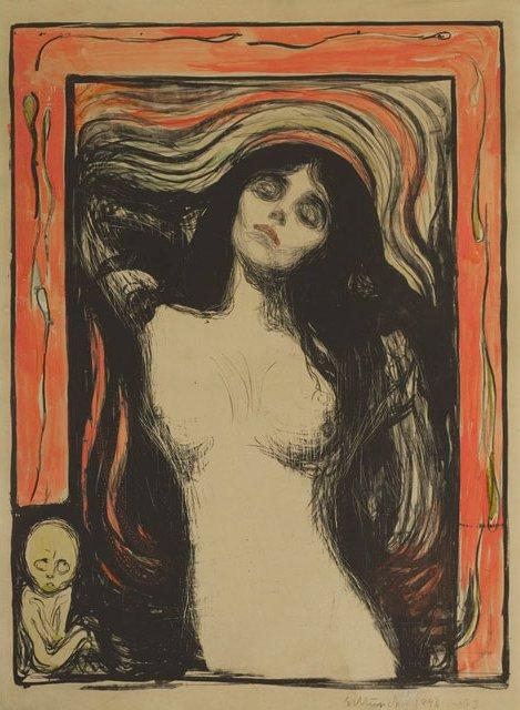 Slavný Munchův obraz Madonna