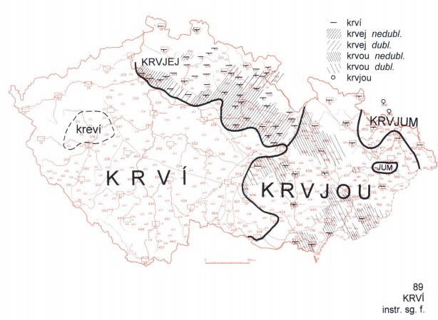Nářečí severovýchodu Čech: Bež pryč s tou krvjej