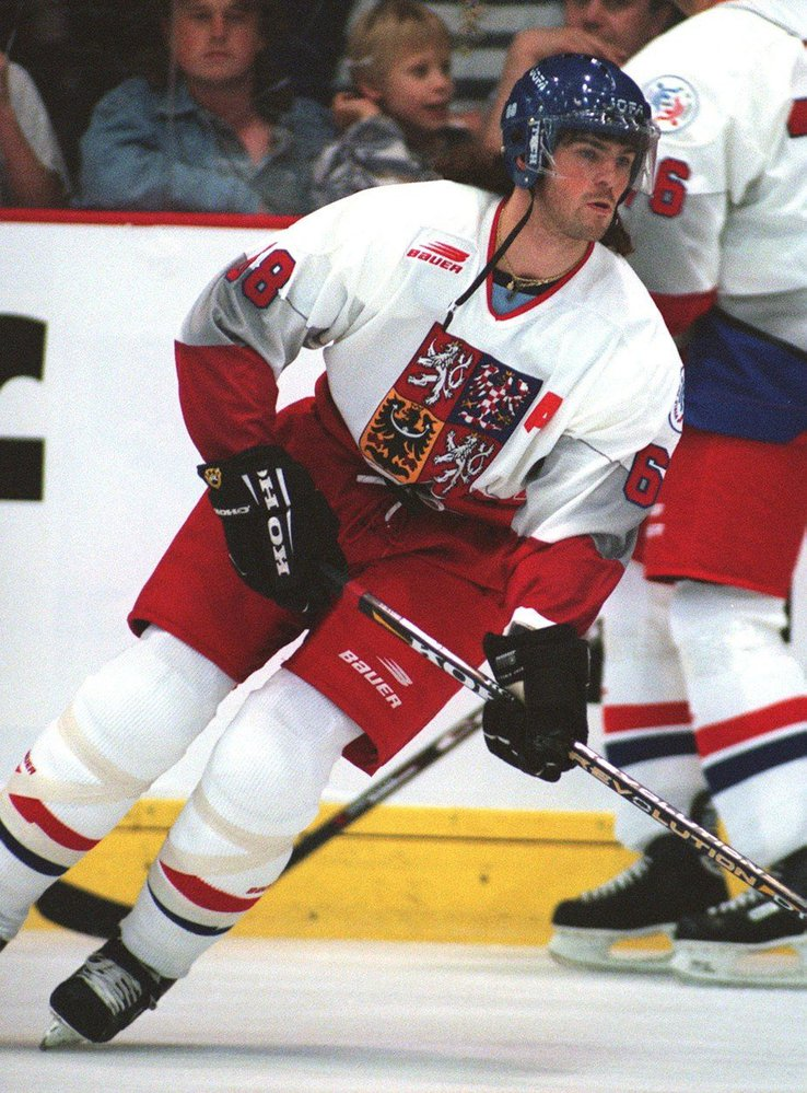 Jaromír Jágr v roce 1996