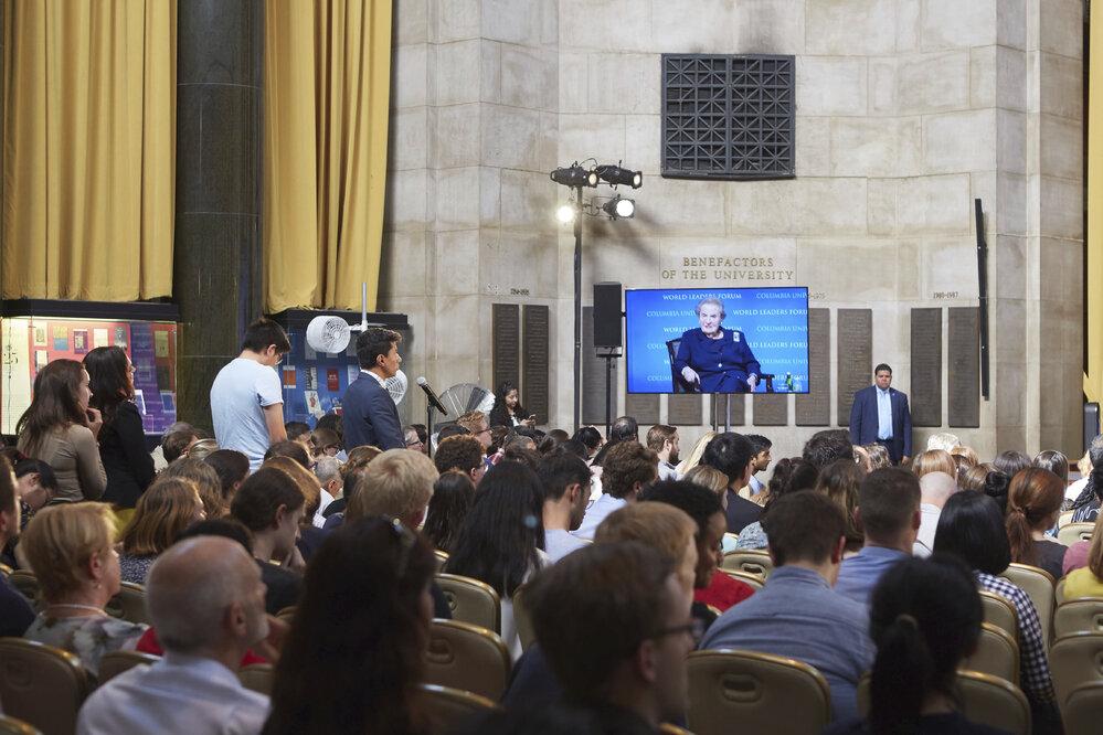 Debata se studenty u příležitosti odhalení busty Václava Havla na Kolumbijské univerzitě