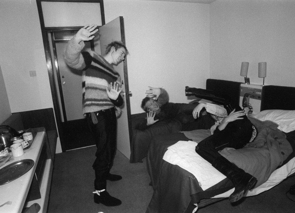 Sex Pistols v akci.