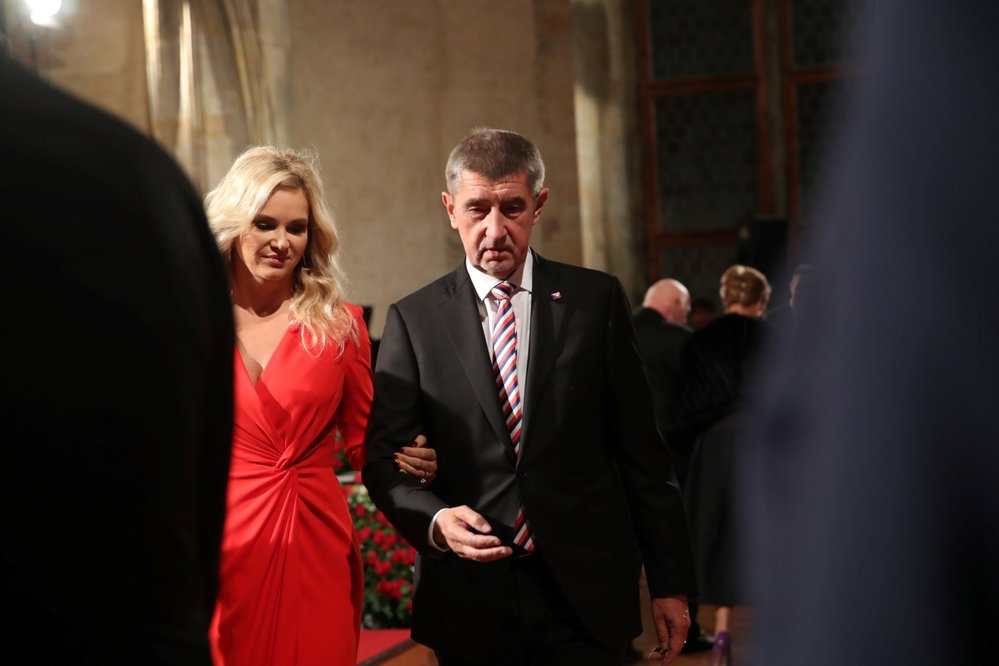 Premiér Babiš s manželkou Monikou 28.10.2018