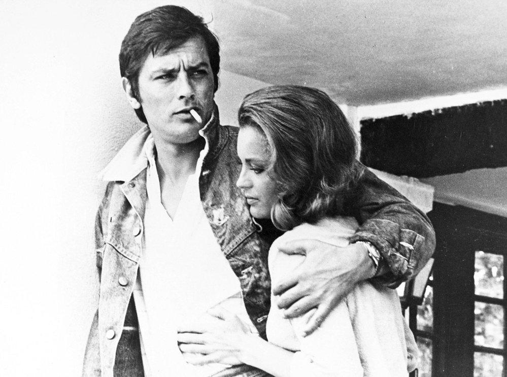 S Romy Schneider po natáčení filmu Bazén, rok 1969.