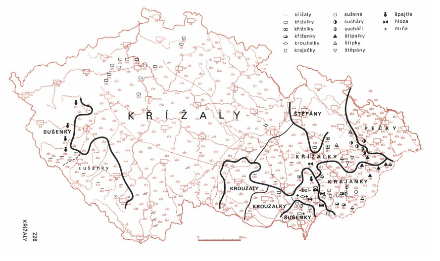 Jak se v Čechách a hlavně na Moravě říká či říkávalo křížalám