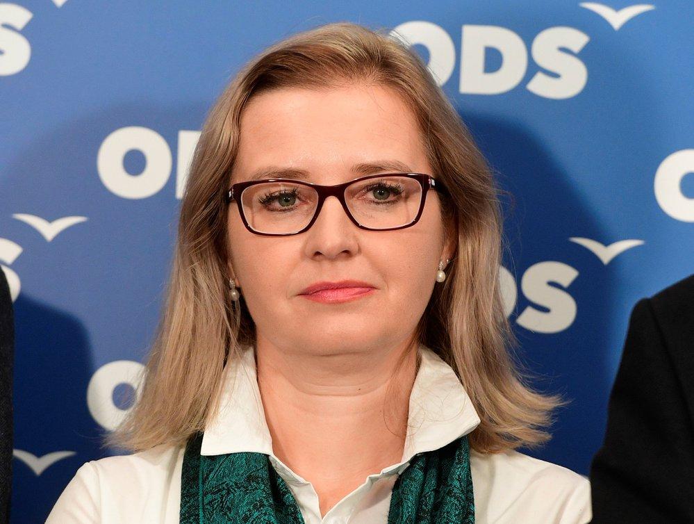 Radka Trylčová (ODS) během představování kandidátů do Evropského parlamentu (21. 1. 2019)