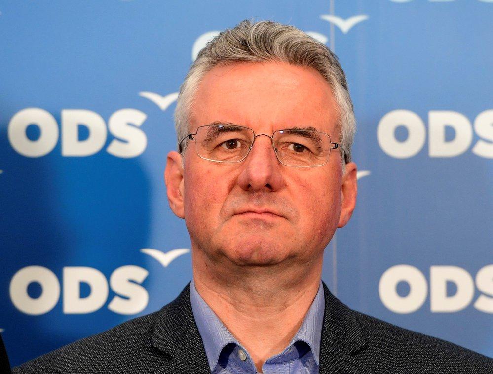 Jan Zahradil (ODS) během představování kandidátů do Evropského parlamentu (21. 1. 2019)