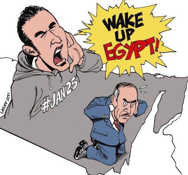 Jedním z podnětů posilujících napětí v egyptské společnosti a vedoucích nakonec k demonstracím se stalo i ubití mladého egyptského muže jménem Khaled Said policisty v alexandrijské městské části Sidi Gaber v červnu 2010