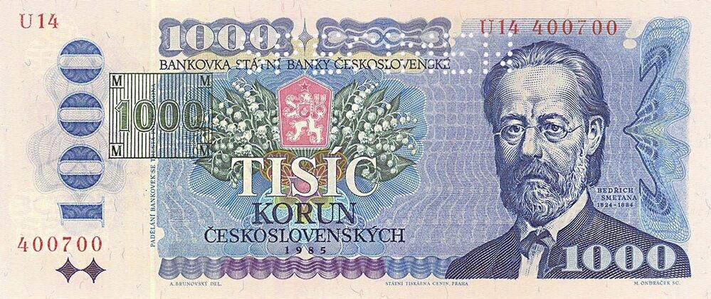 Kolek nového státu (1993). Porozdělení Československa existovala mezi oběma novými státy několik týdnů měnová unie. Již 8. února 1993 však byla vyhlášena měnová odluka. Než se dostaly dooběhu nové, české bankovky, byly kolkovány bankovky staré. Kolky vytiskla tiskárna vkolumbijské Bogotě.