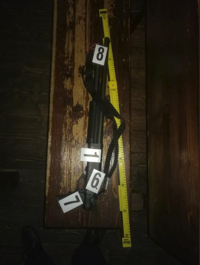 Zbraně, které u vršovického střelce zadržela policie.