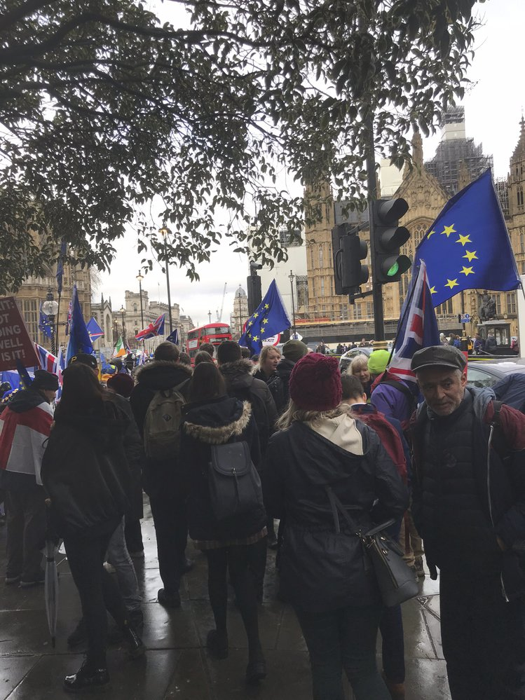 Protest v Londýně