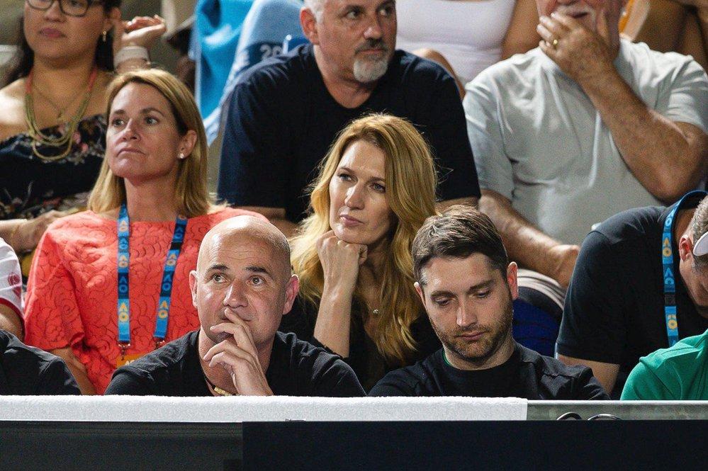 Steffi Grafová sledovala Australian Open i s manželem Andrém Agassim