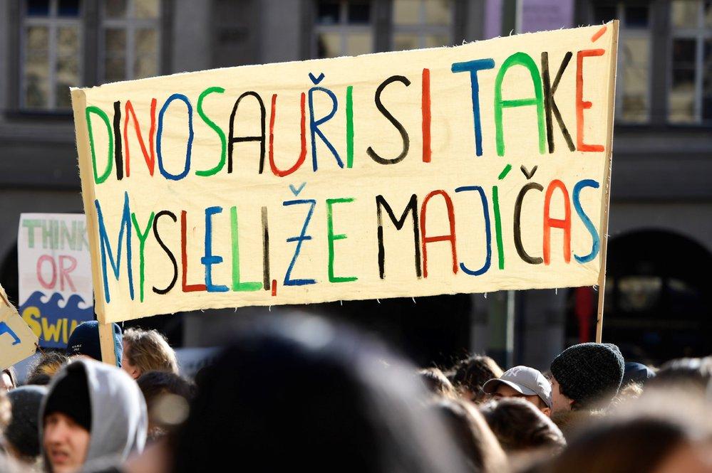Studenti v Praze se připojili k celosvětové protestní akci