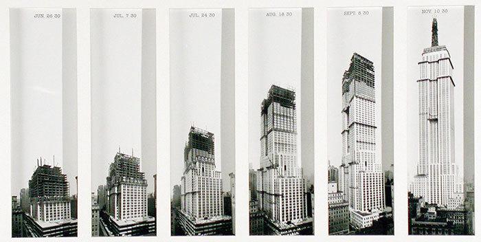 Newyorská Empire State Building ve stylu art deco vyrostla mezi lety 1929-31