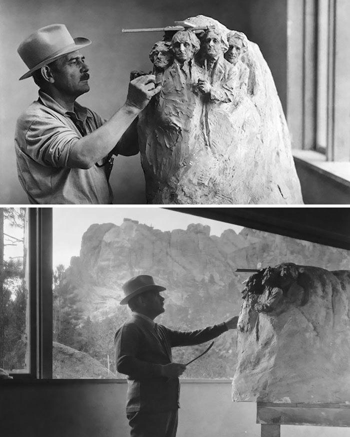 Vznik památníku Mount Rushmore, 1927-41