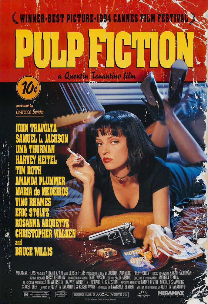 Plakát k filmu Pulp Fiction.