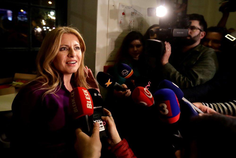Zuzana Čaputová po příchodu do volebního štábu. (30.3.2019)