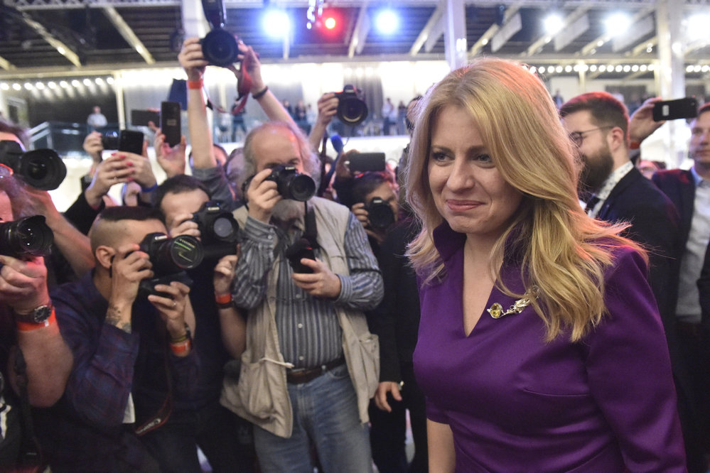 Zuzana Čaputová bude první slovenskou prezidentkou