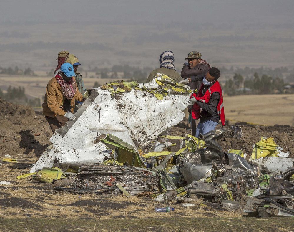 Vyšetřování etiopské letecké havárie.