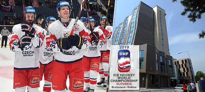 Čeští hokejisté se v Bratislavě mohou těšit na hotel sousedící přímo se Zimním stadionem Ondreje Nepely, odpadne tak cestování autobusem