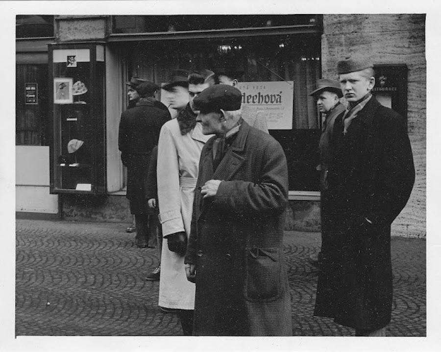 Fotografie Prahy z 50. let.