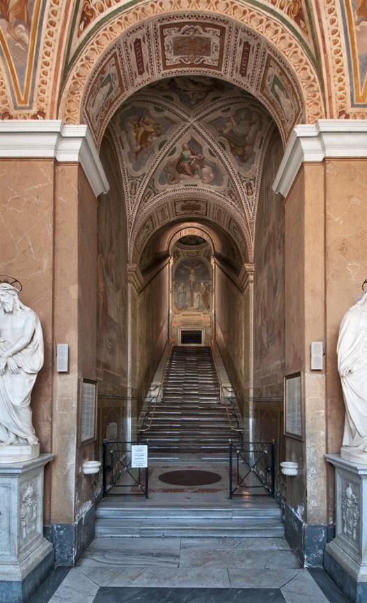 Svaté schody v Římě a kaple, ve které se nacházejí