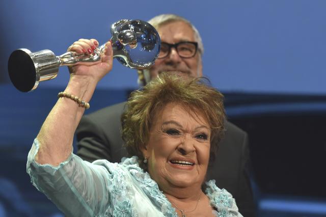 Jiřina Bohdalová převzala Cenu prezidenta MFF KV v roce 2016