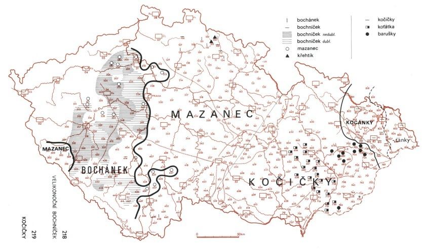 Jak se v různých částech ČR říká mazanci
