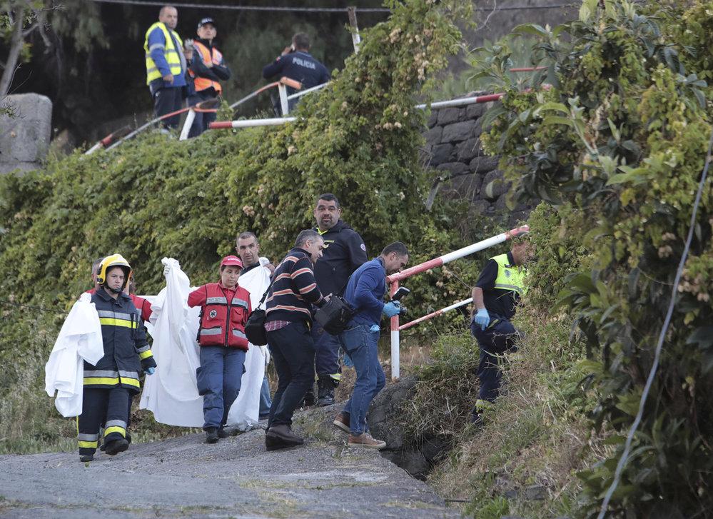 Tragická nehoda autobusu na Madeiře.