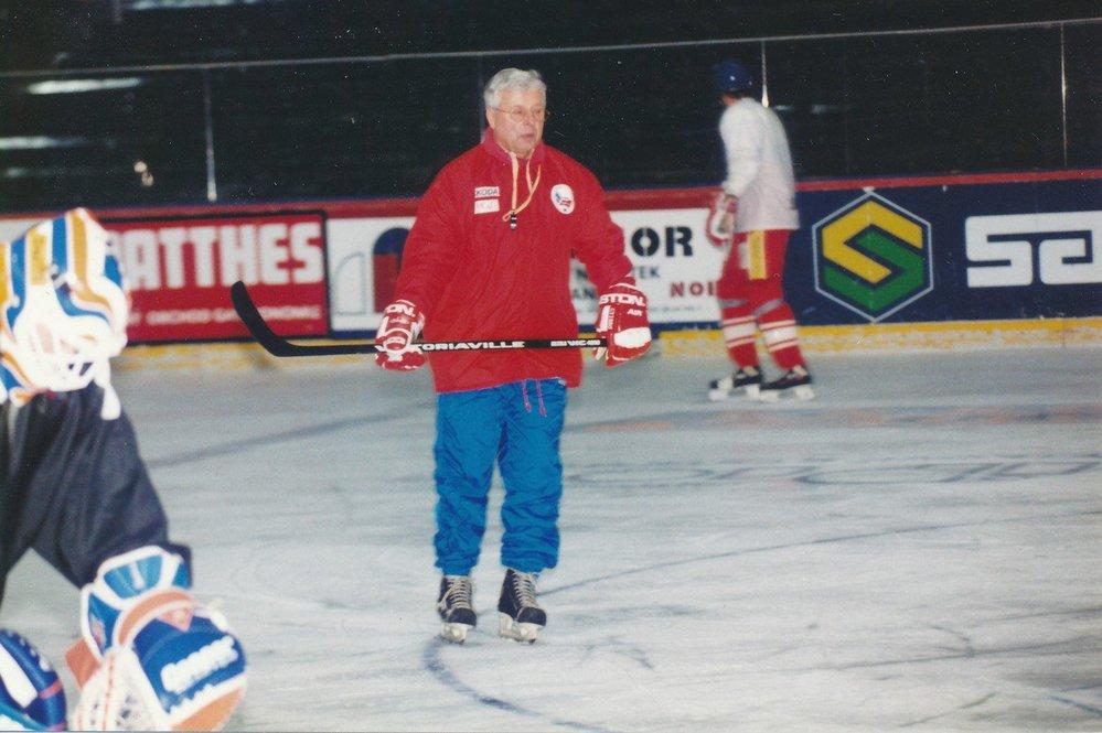 Luděk Bukač v dobách, kdy trénoval reprezentaci