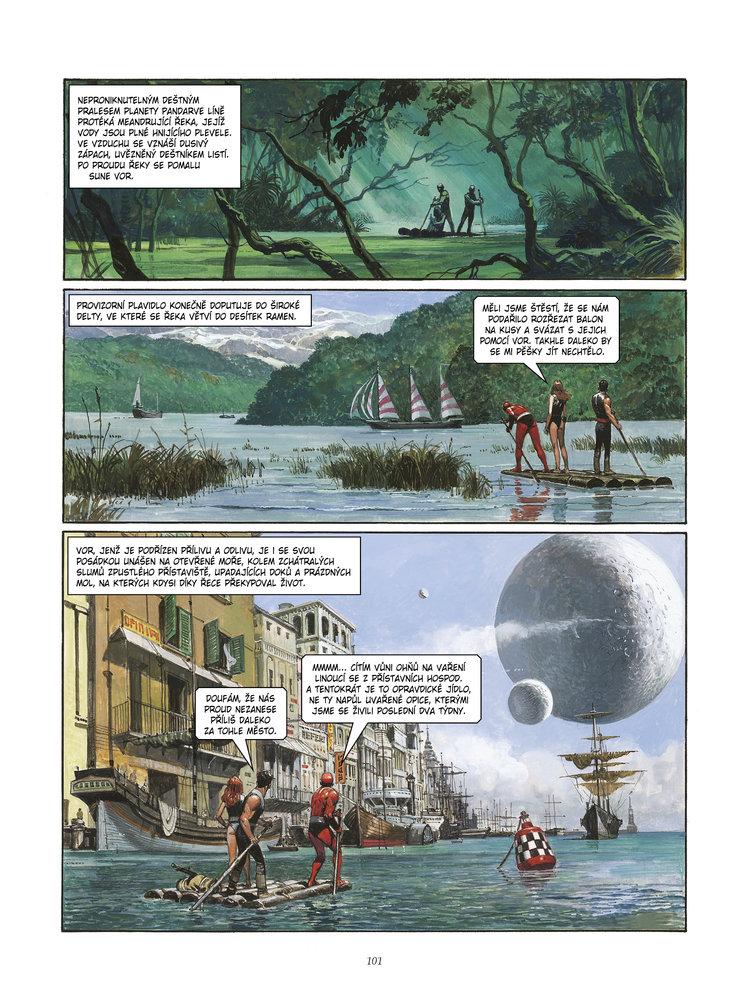 Příběhy Kronik Pandarve vás vrátí do dob pulpových sci-fi dobrodružství plných svalnatých hrdinů a krásných žen, cizokrajných planet a obřích monster, ovšem s moderní hravostí a se spoustou nápadů.