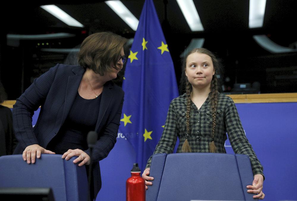 Greta Thunbergová v Evropském parlamentu