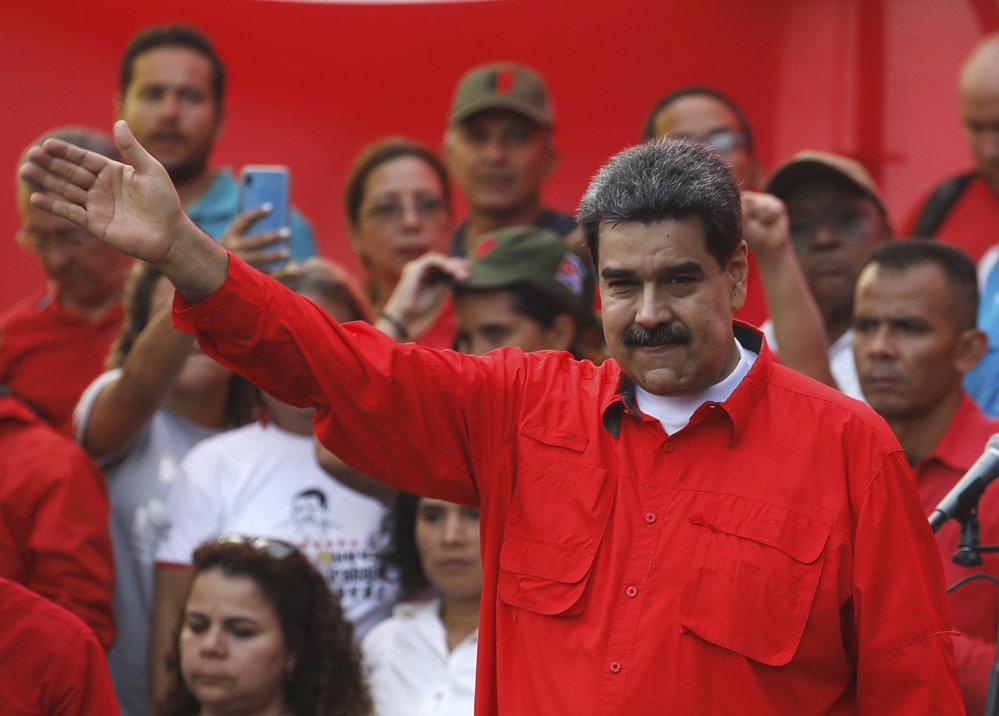 Ve Venezuele pokračují protesty proti vládě prezidenta Madura. Na snímku prezident Maduro na mítinku se svými podpůrci, (2.05.2019).
