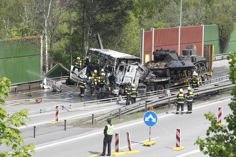 Dopravní nehoda na Pražském okruhu