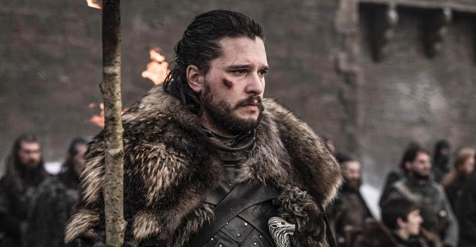 Jon Snow/Aegon Targaryen ve čtvrtém dílu 8. řady Hry o trůny