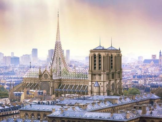 Stane se z Notre Dame ovocný sad? Architekt představil odvážný návrh
