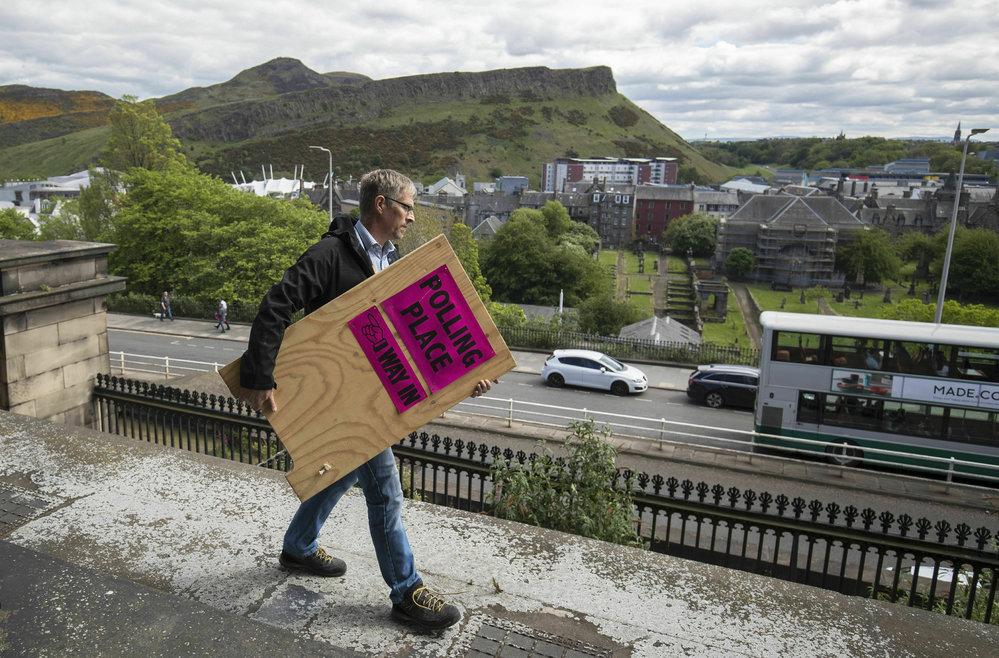 Skotové volí 6 zástupců do Evropského parlamentu, (3.05.2015).