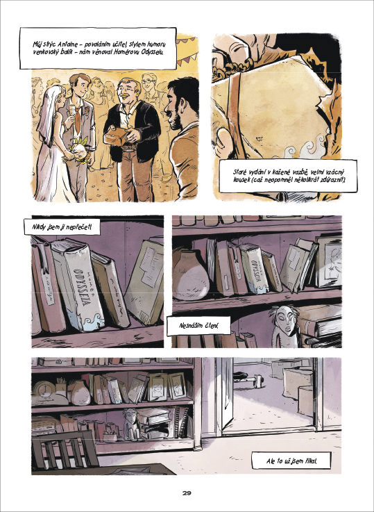 Nevyhnutelná opotřebovanost citů; ukázka z komiksu