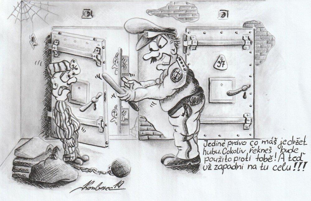 Ukázky z tvorby autora tohoto seriálu. Všechny malby a kresby vznikly ve vězení.