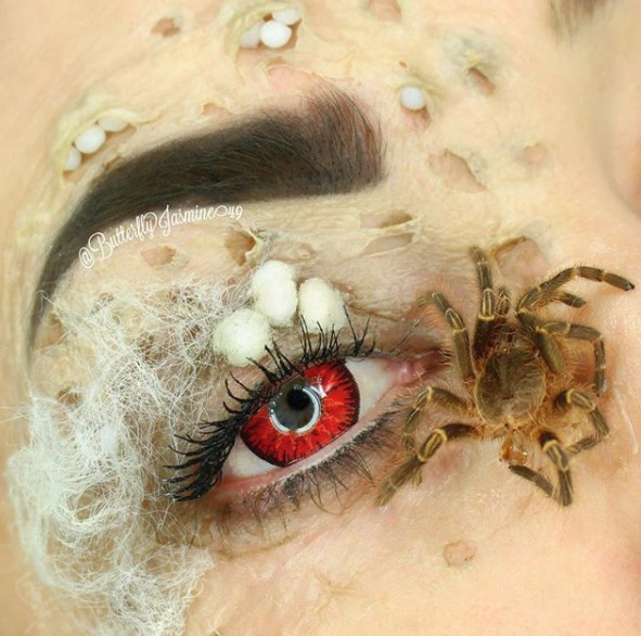 Hmyzí make-up americké stylistky.