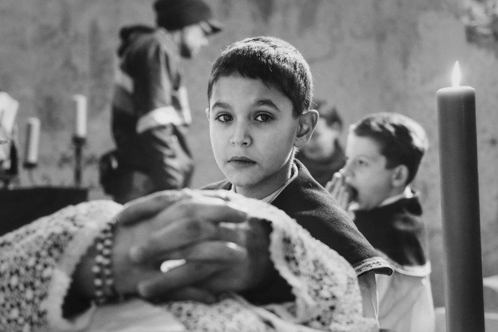 Petr Kotlář ve filmu Nabarvené ptáče.