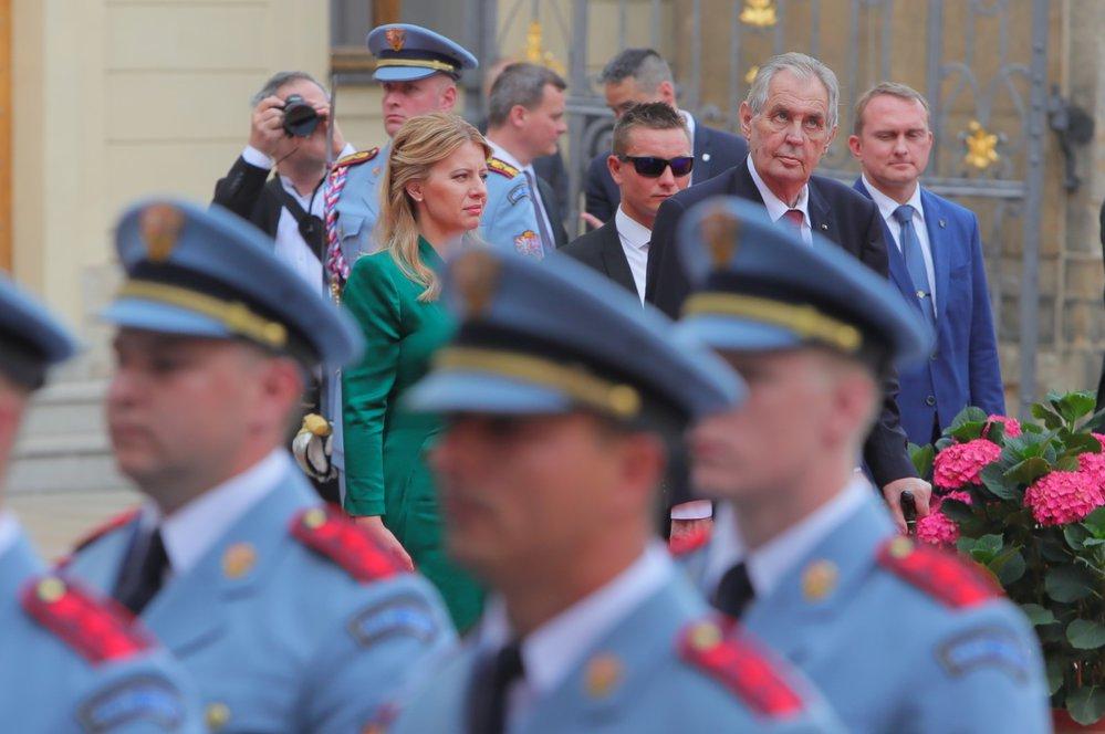 Návštěva slovenské prezidentky Zuzany Čaputové na Pražském hradě
