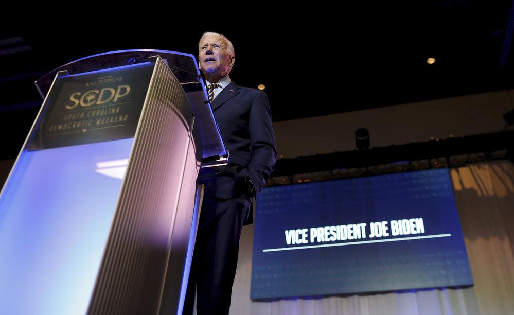 Demokratický kandidát Joe Biden.