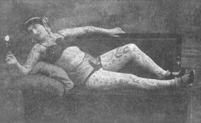 Ženy potetované v době, kdy to bylo společensky nepřípustné:kolem roku 1910