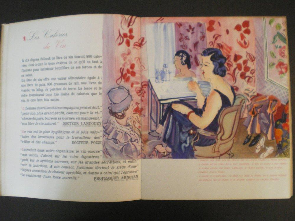 Ilustrace Raoula Dufyho v knížce Mon docteur le vin