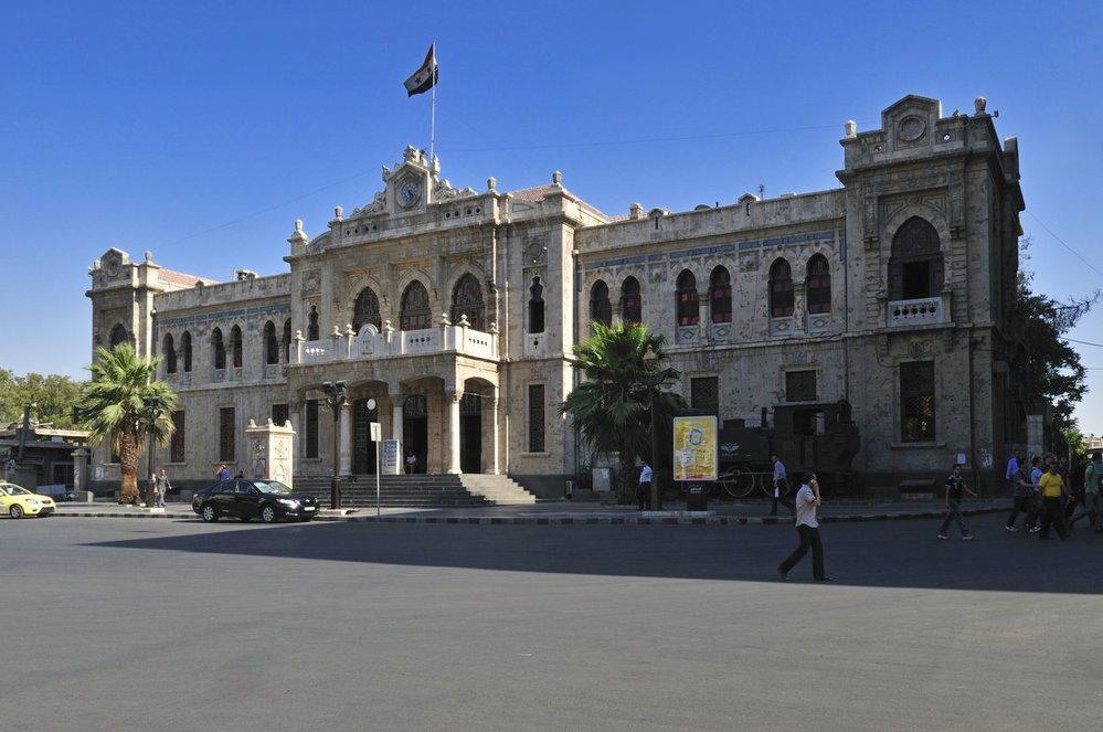 Hedžázské nádraží v Damašku.